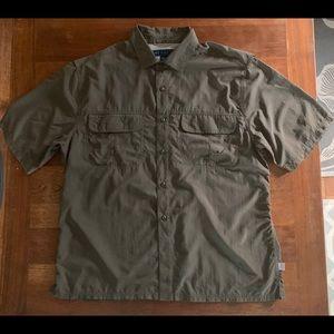 EMS Army Green Short Sleeve Shirt Large